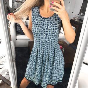 🌎 MAX STUDIO Green Blue Floral Midi Dress!